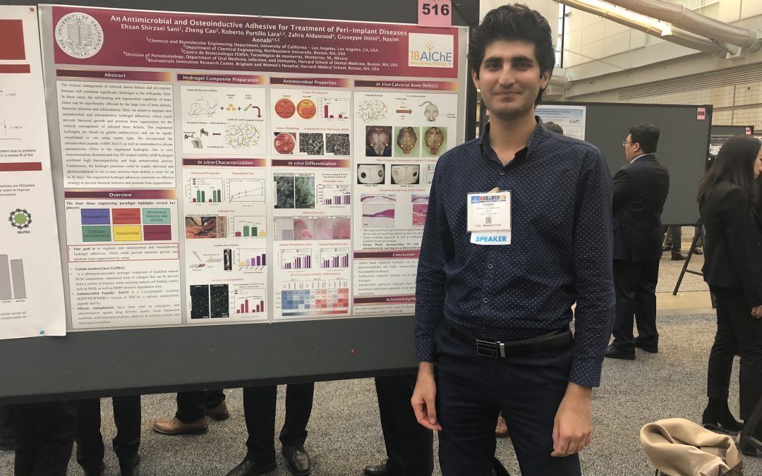 CBE PhD student, Ehsan Shirzaei Sani, received Best Poster Award at 2018 AIChE Annual Meeting