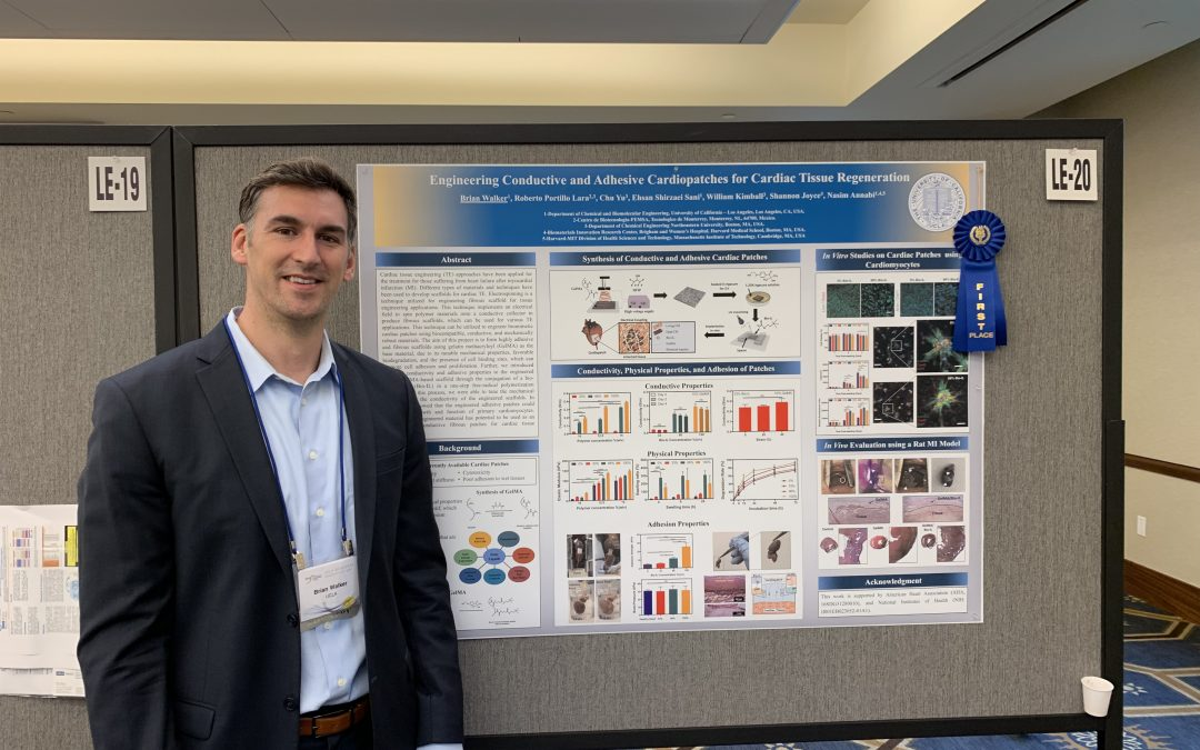 UCLA Bioscience Innovation Day 2019, Poster Award Winner: Brian Walker